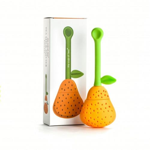 Infuseur à thé en forme de poire - Orange