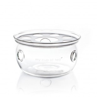 Réchaud à théière en verre souflé