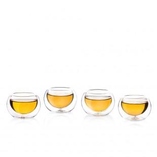 4 mini verres à double parois